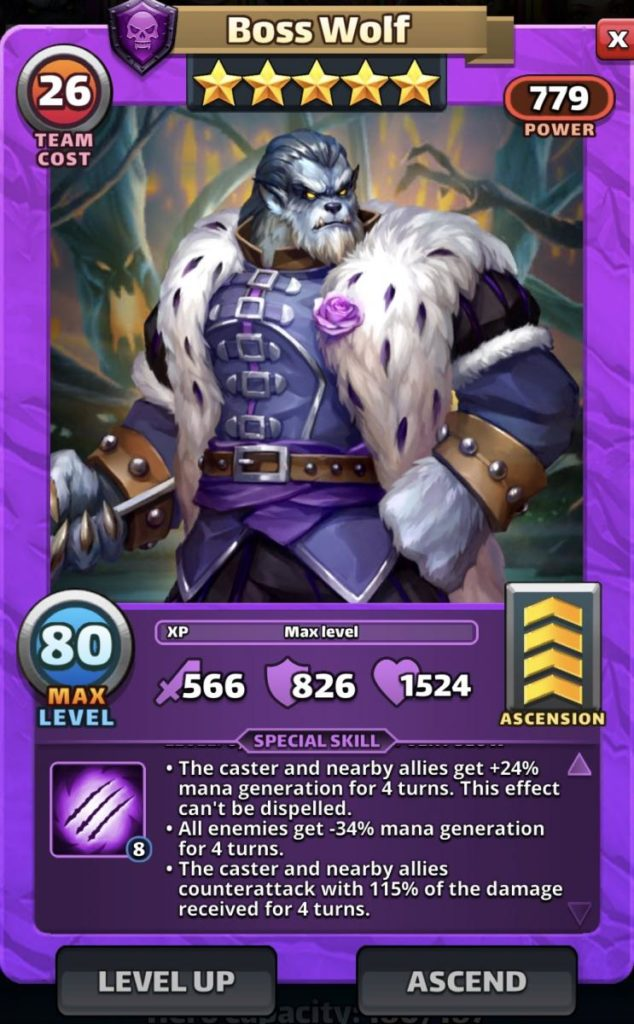 Empires and puzzles Hero Boss Wolf