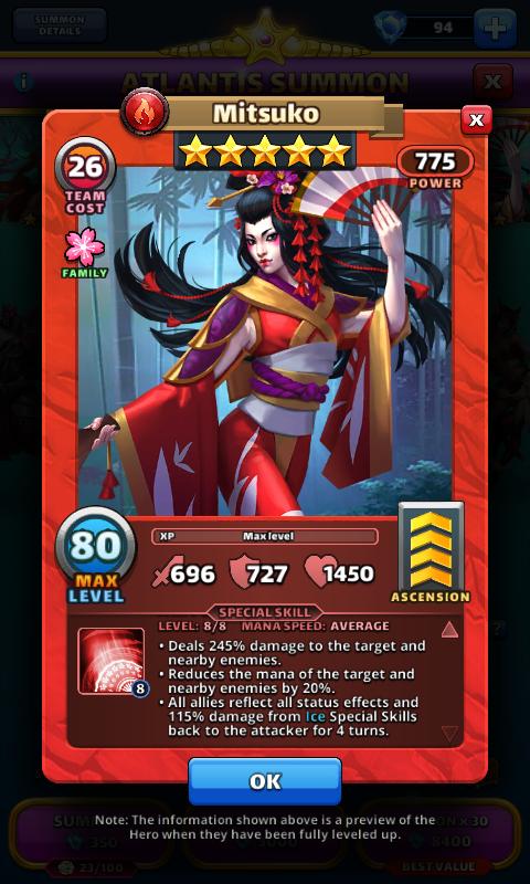Empires and puzzles Hero Mitsuko