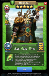 Empires and Puzzles Hero Heimdall
