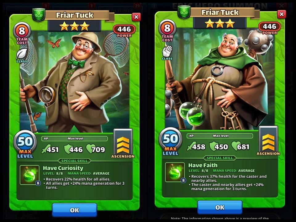 Empires and puzzles *BETA* Costume Friar Tuck