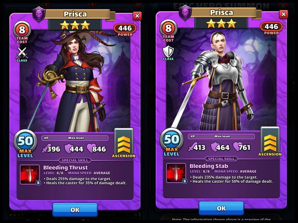 Empires and puzzles *BETA* Costume Prisca