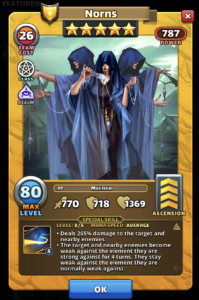 Empires and puzzles norns