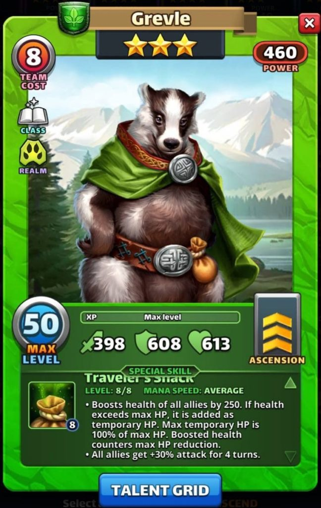 Empires and Puzzles Grevle