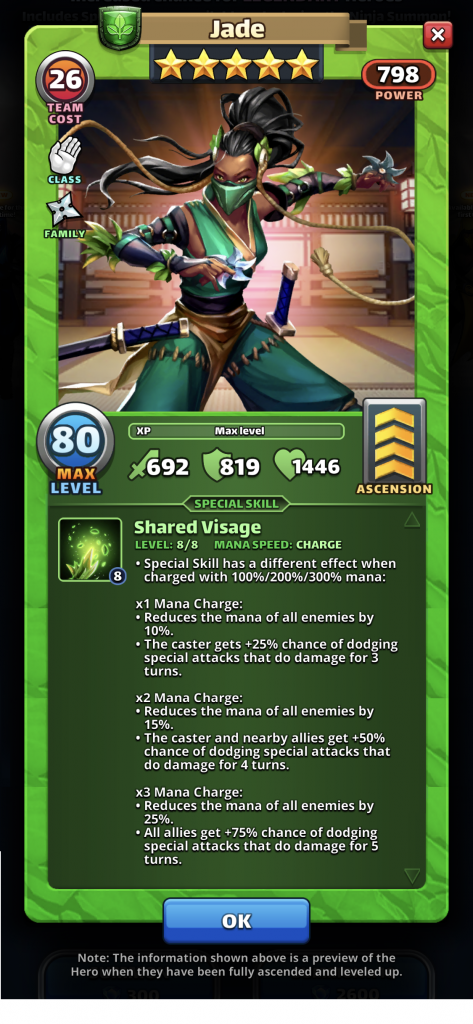 Empires and Puzzles Ninja Jade